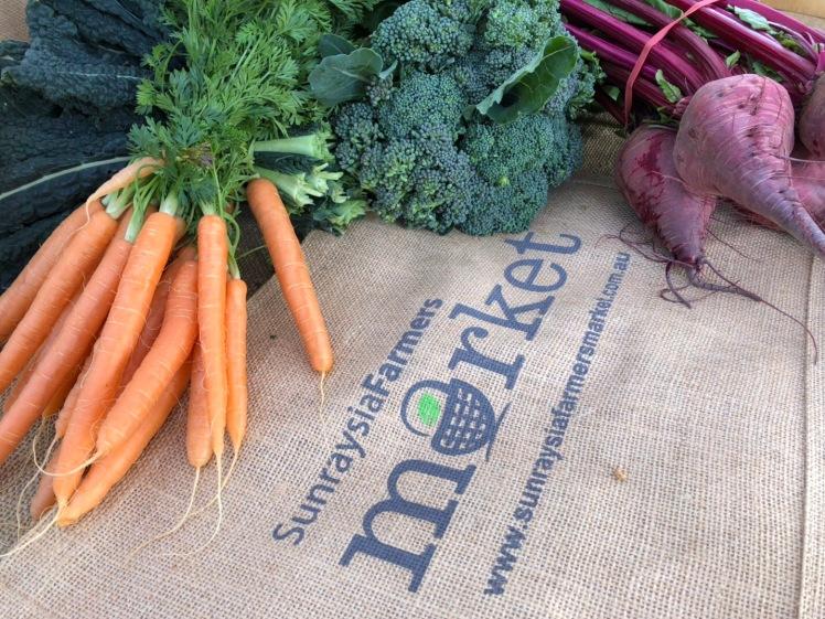 Farm Fresh Produce, pick up a reusable SFM Market bag